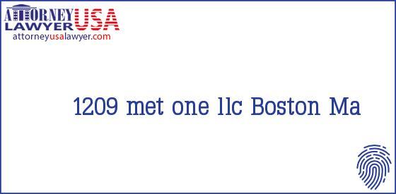 1209 met one llc Boston Ma