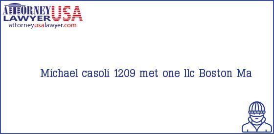 Telephone, Address and other contact data of Michael casoli, Boston, Ma, USA