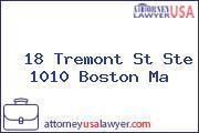 18 Tremont St Ste 1010 Boston Ma