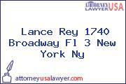 Lance Rey 1740 Broadway Fl 3 New York Ny