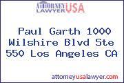Paul Garth 1000 Wilshire Blvd Ste 550 Los Angeles CA