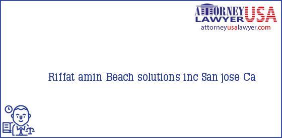 Telephone, Address and other contact data of Riffat amin, San jose, Ca, USA