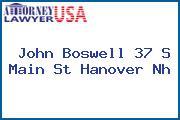 John Boswell 37 S Main St Hanover Nh