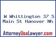 W Whittington 37 S Main St Hanover Nh