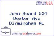 John Beard 504 Dexter Ave Birmingham AL