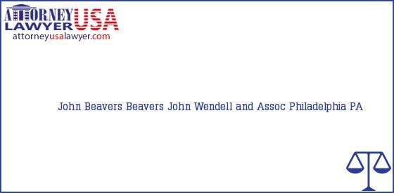 Telephone, Address and other contact data of John Beavers, Philadelphia, PA, USA