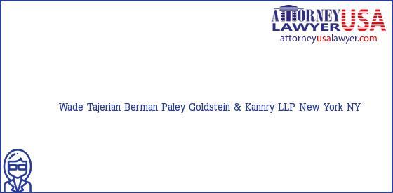 Telephone, Address and other contact data of Wade Tajerian, New York, NY, USA