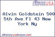Alvin Goldstein 500 5th Ave Fl 43 New York Ny