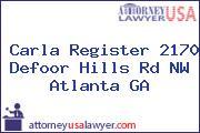 Carla Register 2170 Defoor Hills Rd NW Atlanta GA