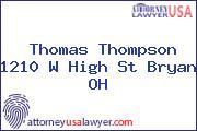 Thomas Thompson 1210 W High St Bryan OH