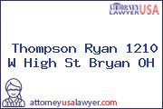 Thompson Ryan 1210 W High St Bryan OH