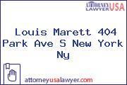 Louis Marett 404 Park Ave S New York Ny