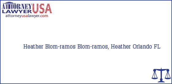 Telephone, Address and other contact data of Heather Blom-ramos, Orlando, FL, USA