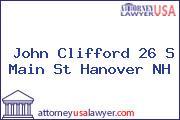 John Clifford 26 S Main St Hanover NH