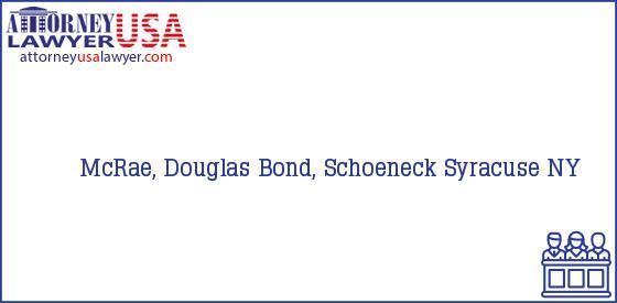 Telephone, Address and other contact data of McRae, Douglas, Syracuse, NY, USA