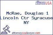 McRae, Douglas 1 Lincoln Ctr Syracuse NY