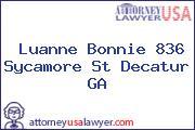 Luanne Bonnie 836 Sycamore St Decatur GA