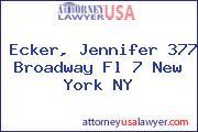 Ecker, Jennifer 377 Broadway Fl 7 New York NY