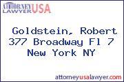Goldstein, Robert 377 Broadway Fl 7 New York NY
