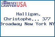 Halligan, Christophe... 377 Broadway New York NY