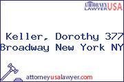 Keller, Dorothy 377 Broadway New York NY
