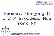 Soumas, Gregory C. C 377 Broadway New York NY