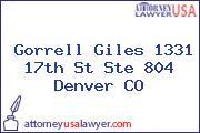 Gorrell Giles 1331 17th St Ste 804 Denver CO