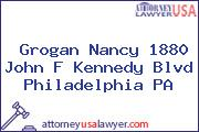 Grogan Nancy 1880 John F Kennedy Blvd Philadelphia PA