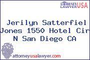 Jerilyn Satterfiel Jones 1550 Hotel Cir N San Diego CA