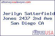 Jerilyn Satterfield Jones 2437 2nd Ave San Diego CA
