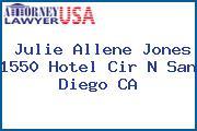Julie Allene Jones 1550 Hotel Cir N San Diego CA