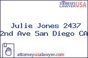 Julie Jones 2437 2nd Ave San Diego CA