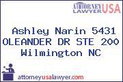 Ashley Narin 5431 OLEANDER DR STE 200 Wilmington NC
