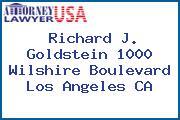 Richard J. Goldstein 1000 Wilshire Boulevard Los Angeles CA