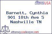 Barnett, Cynthia 901 18th Ave S Nashville TN