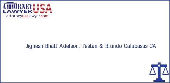 Telephone, Address and other contact data of Jignesh Bhatt, Calabasas, CA, USA