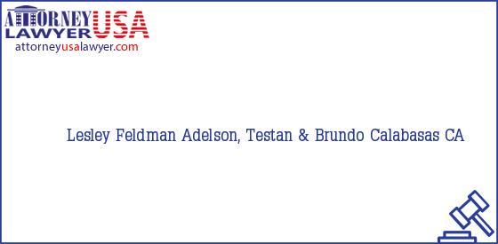 Telephone, Address and other contact data of Lesley Feldman, Calabasas, CA, USA