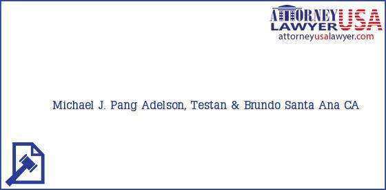 Telephone, Address and other contact data of Michael J. Pang, Santa Ana, CA, USA