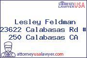 Lesley Feldman 23622 Calabasas Rd # 250 Calabasas CA