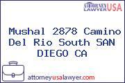Mushal 2878 Camino Del Rio South SAN DIEGO CA