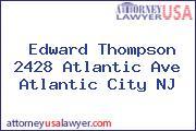 Edward Thompson 2428 Atlantic Ave Atlantic City NJ