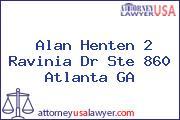 Alan Henten 2 Ravinia Dr Ste 860 Atlanta GA