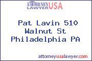 Pat Lavin 510 Walnut St Philadelphia PA