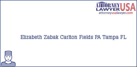Telephone, Address and other contact data of Elizabeth Zabak, Tampa, FL, USA