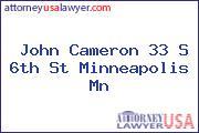John Cameron 33 S 6th St Minneapolis Mn