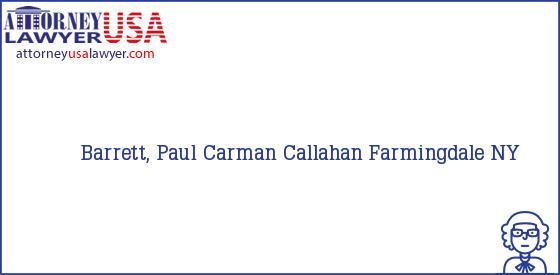Telephone, Address and other contact data of Barrett, Paul, Farmingdale, NY, USA