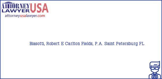 Telephone, Address and other contact data of Biasotti, Robert E, Saint Petersburg, FL, USA