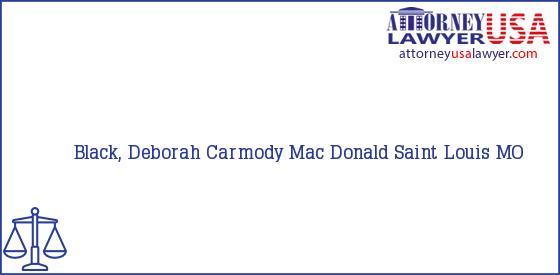 Telephone, Address and other contact data of Black, Deborah, Saint Louis, MO, USA
