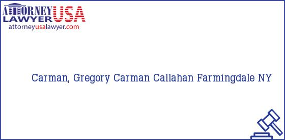 Telephone, Address and other contact data of Carman, Gregory, Farmingdale, NY, USA