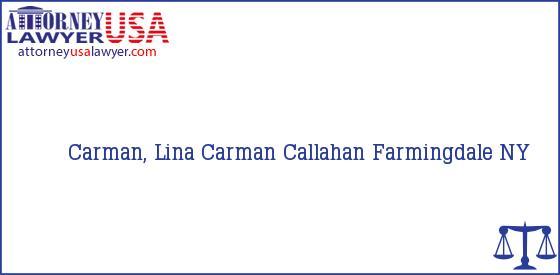 Telephone, Address and other contact data of Carman, Lina, Farmingdale, NY, USA